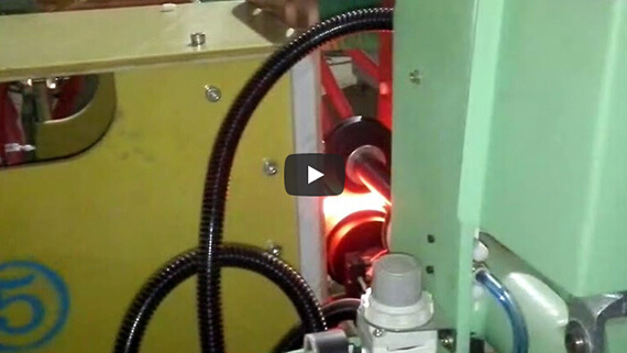 Coil spring induction heating production line